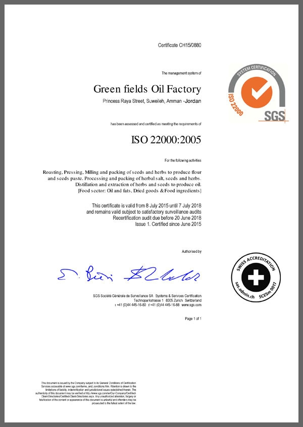 Green Fields Oil Factory international buyers Green Fields